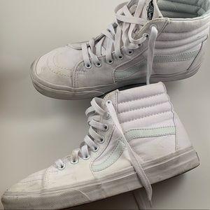 Vans White Old Skool high tops size 9